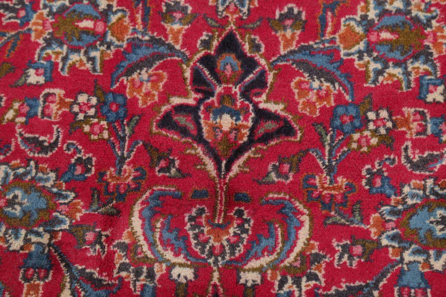 Floral Red Mashad Persian Area Rug 6x10 image 11