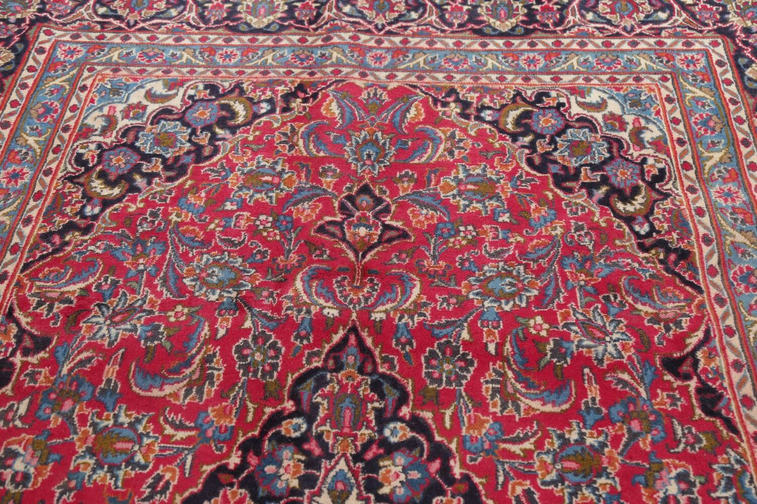 Floral Red Mashad Persian Area Rug 6x10 image 13