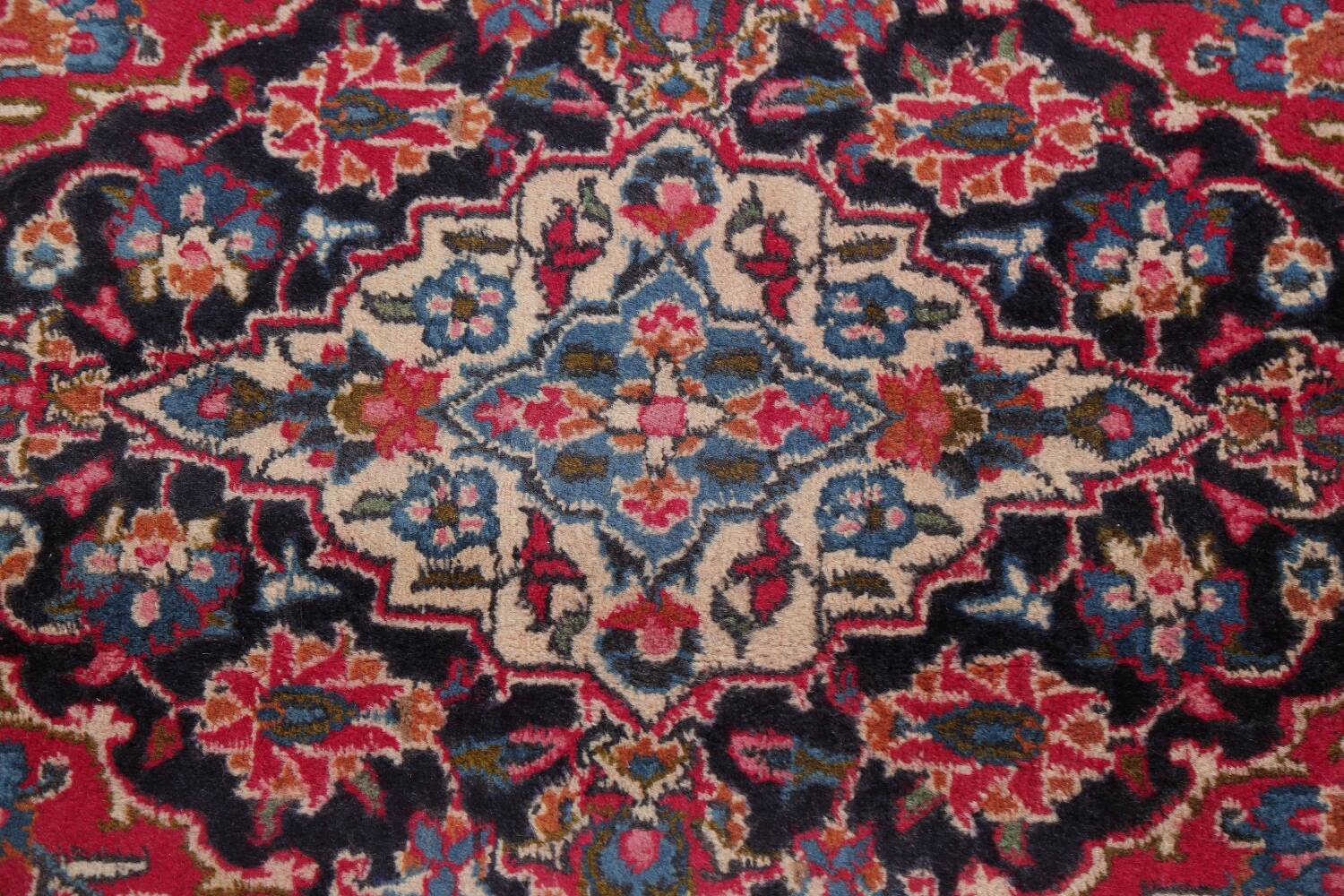 Floral Red Mashad Persian Area Rug 6x10 image 12