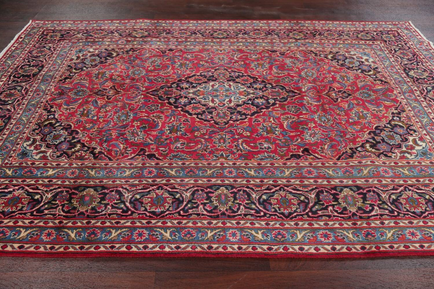 Floral Red Mashad Persian Area Rug 6x10 image 15