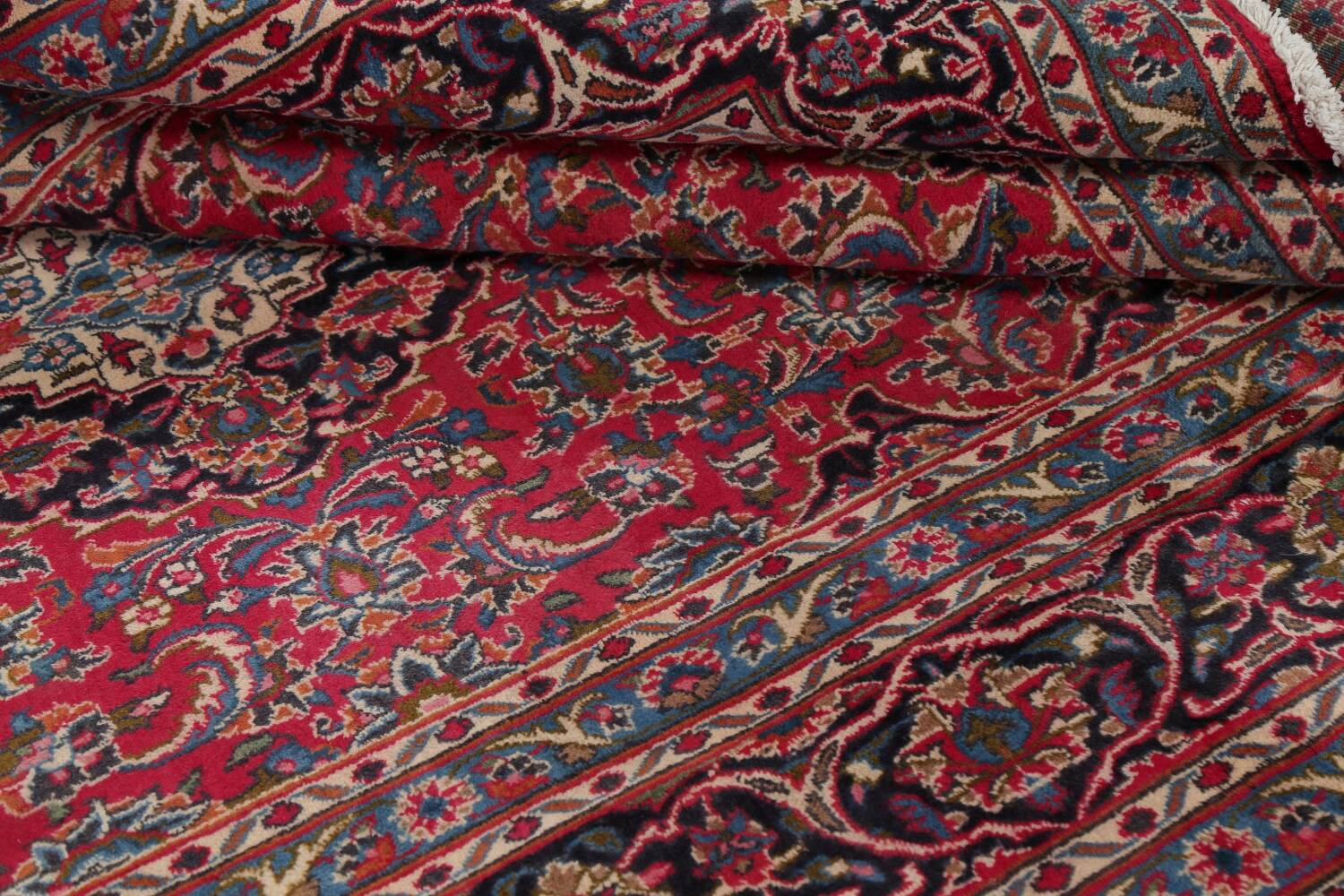 Floral Red Mashad Persian Area Rug 6x10 image 17