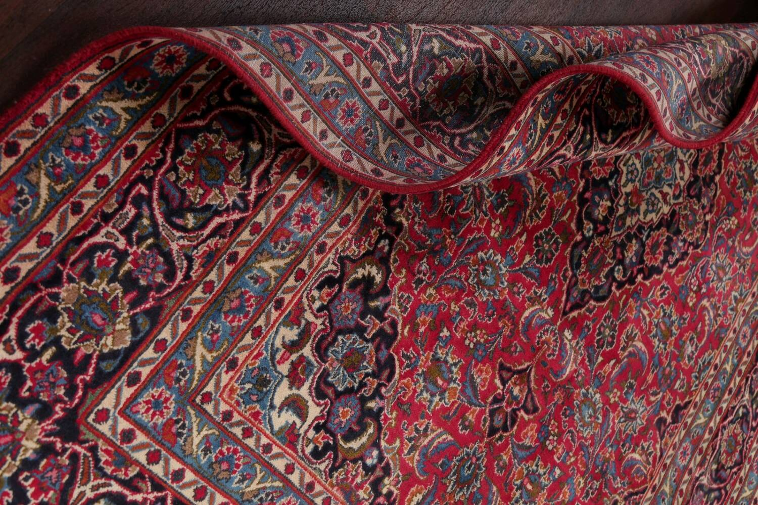 Floral Red Mashad Persian Area Rug 6x10 image 18