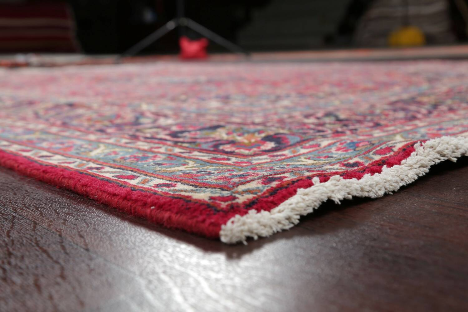 Floral Red Mashad Persian Area Rug 6x10 image 6