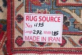 Floral Red Mashad Persian Area Rug 6x10 image 22