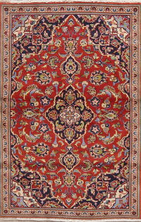 Floral Red Kashan Persian Area Rug 2x4