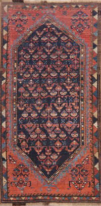 Pre-1900 Antique Vegetable Dye Bidjar Persian Area Rug 3x5