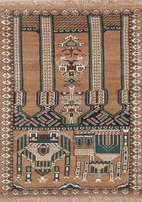 Dynasty Pictorial Balouch Prayer rug 3x4