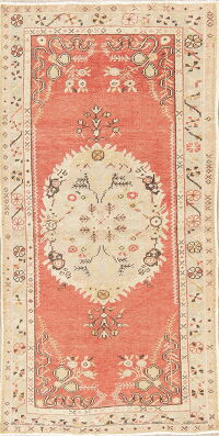 Rust Geometric Anatolian Turkish Area Rug 3x6