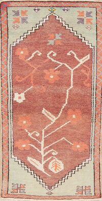 Geometric Oushak Persian Area Rug 3x5