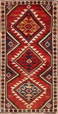 Geometric Red Ardebil Persian Area Rug 3x5