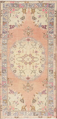 Geometric Anatolian Turkish Area Rug 3x6