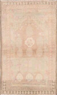 Muted Distressed Anatolian Turkish Area Rug 2x4