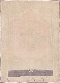 Muted Distressed Anatolian Turkish Area Rug 3x4