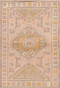Tribal Geometric Anatolian Turkish Area Rug 3x4