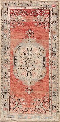 Distressed Color Anatolian Turkish Runner Rug 3x6