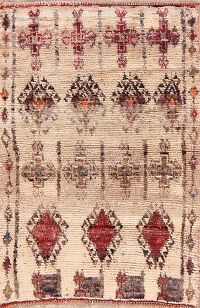 Antique Geometric Moroccan Persian Area Rug 2x3