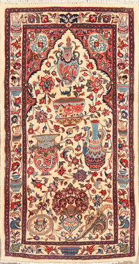 Dynasty Historical Pictorial Kashmar Persian Area Rug 2x4