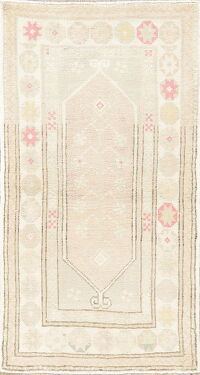 Muted Distressed Color Anatolian Turkish Area Rug 3x5