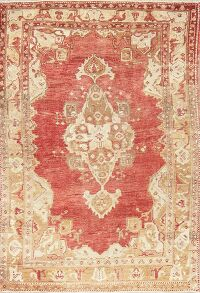 Muted Antique Look Oushak Turkish Area Rug 5x6