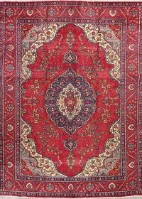 Floral Tabriz Persian Red Area Rug 9x13