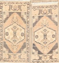 Set of 2 Geometric Anatolian Turkish Area Rugs 2x3