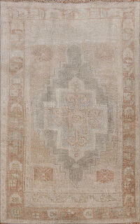 Muted Distressed Oushak Oriental Area Rugs 2x4