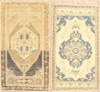 Set of 2 Geometric Anatolian Turkish Area Rugs 2x4