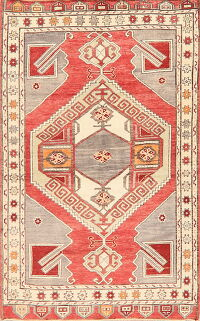 Geometric Anatolian Turkish Area Rug 4x7