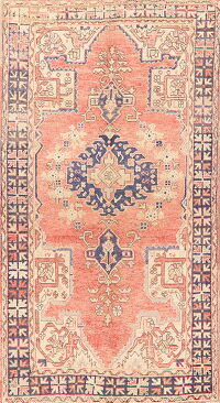 Geometric Oushak Turkish Area Rug 4x7