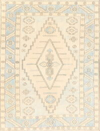 Geometric Anatolian Turkish Area Rug 5x7