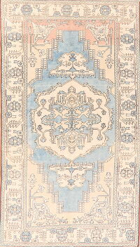 Geometric Anatolian Turkish Area Rug 5x9