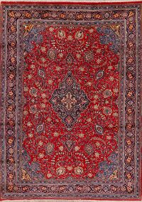 Vintage Floral Red Sarouk Persian Area Rug 8x11
