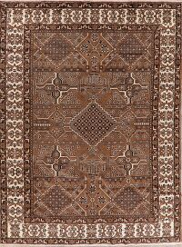 Geometric Brown Ferdos Persian Area Rug 8x11