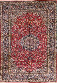 Vintage Floral Red Najafabad Persian Area Rug 10x14