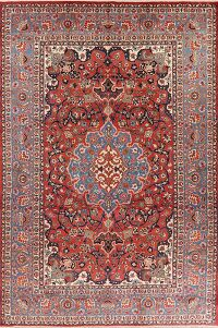 Vintage Floral Isfahan Persian Area Rug 9x13