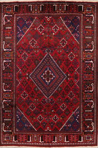 Geometric Red Joshaghan Persian Area Rug 7x10