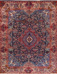 Navy Blue Pictorial Kashmar Persian Area Rug 10x12