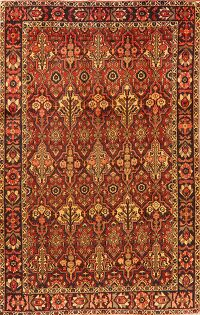 All-Over Geometric Bakhtiari Persian Area Rug 6x10