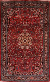 Floral Red Bidjar Persian Area Rug 5x9