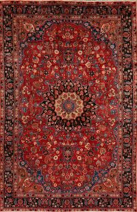 Vintage Floral Red Mood Persian Area Rug 7x10