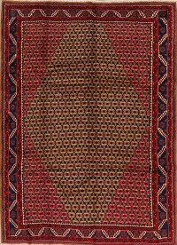 All-Over Brown Koliaie Persian Area Rug 7x10