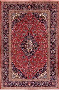 Traditional Floral Red Kashan Persian Area Rug 6x10