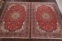 Pair of 2 Floral Tabriz Persian Red Area Rug 7x10