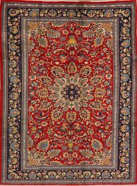 Floral Sarouk Persian Red Area Rug 6x9