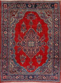 Vintage Floral Mahal Persian Red Area Rug 8x11