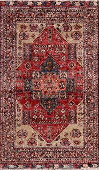 Vegetable Dye Super Kazak Oriental Area Rug 5x7
