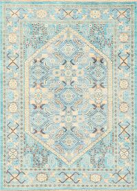 Vegetable Dye Muted Ziegler Oriental Area Rug 4x5