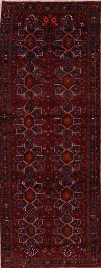 Tribal Geometric Bakhtiari Persian Runner Rug 5x14