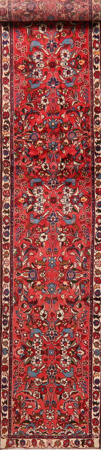 Animal Pictorial Floral Lilian Persian Runner Rug 2x13