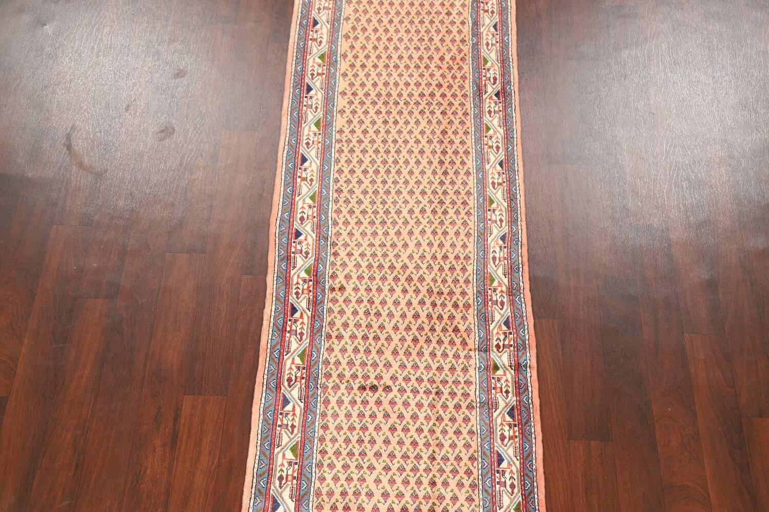 All-Over Peach Botemir Persian Runner Rug 3x14 image 3